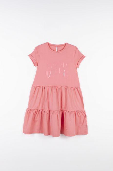 Сукня з комбінованих тканин